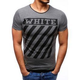 BASIC Antracitové tričko s potiskem (rx2176) velikost: L, odstíny barev: šedá