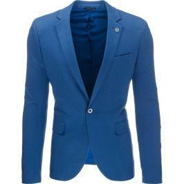 BASIC Pánské modré sako casual (mx0310) velikost: L, odstíny barev: modrá