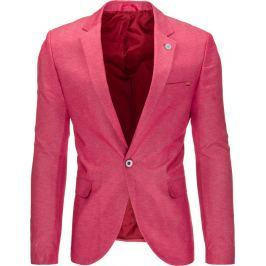 BASIC Pánské růžové sako casual (mx0314) velikost: M, odstíny barev: růžová