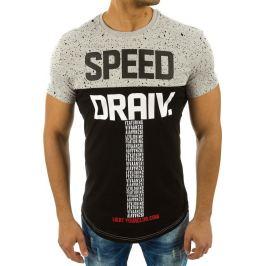 BASIC Pánské šedé tričko s potiskem (rx2197) Velikost: M