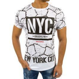 BASIC Pánské bílé tričko s potiskem (rx2221) velikost: XL, odstíny barev: bílá