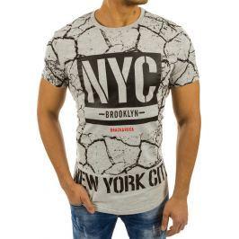 BASIC Pánské šedé tričko s potiskem (rx2222) velikost: M, odstíny barev: šedá