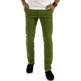 BASIC Pánské zelené kalhoty (ux0894) velikost: 29, odstíny barev: zelená