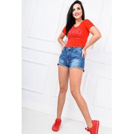BASIC Dámské červené tričko - 70227 Velikost: S/M