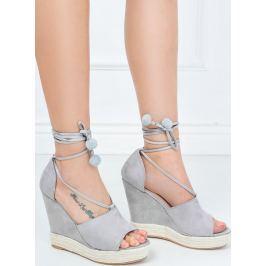 Dámské sandále na klínku Y8 velikost: 36, odstíny barev: šedá