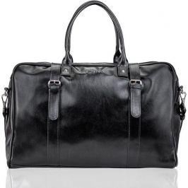 Black men's weekend bag SOLIER (S16 BLACK) velikost: univerzální, odstíny barev: černá