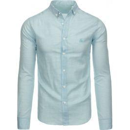 BASIC Mátová košile s dlouhým rukávem (dx1336) velikost: 2XL, odstíny barev: zelená