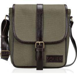 SOLIER Green shoulder messenger bag (SL08 CANVAS ECO GREEN) velikost: univerzální, odstíny barev: zelená