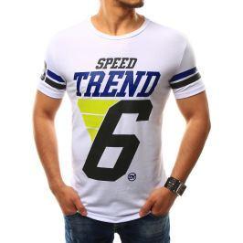 BASIC Pánské bílé tričko s potiskem (rx2241) velikost: XL, odstíny barev: bílá