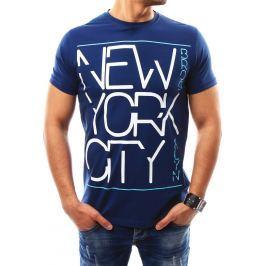 BASIC Pánské tmavě modré tričko s potiskem (rx2266) velikost: 2XL, odstíny barev: modrá