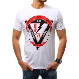 BASIC Pánské bílé tričko s potiskem (rx2305) Velikost: 2XL