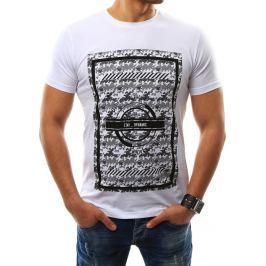 BASIC Pánské bílé tričko s potiskem (rx2309) Velikost: 2XL