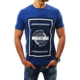 BASIC Pánské modré tričko s potiskem (rx2310) Velikost: 2XL