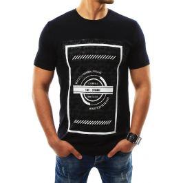 BASIC Pánské černé tričko s potiskem (rx2311) velikost: 2XL, odstíny barev: černá