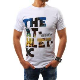 BASIC Pánské bílé tričko s potiskem (rx2317) Velikost: 2XL