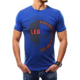 BASIC Pánské modré tričko s potiskem (rx2326) Velikost: 2XL