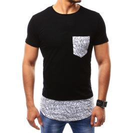 BASIC Pánské černé tričko (rx2348) velikost: 2XL, odstíny barev: černá