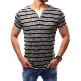BASIC Pánské šedé tričko (rx2361) velikost: 2XL, odstíny barev: šedá
