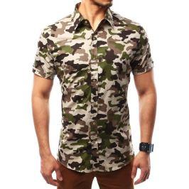 BASIC Pánská maskáčová košile (kx0777) velikost: S, odstíny barev: zelená