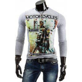 BASIC Pánské tričko (lx0295) velikost: 2XL, odstíny barev: šedá