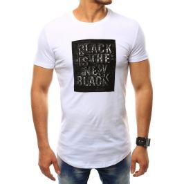 BASIC Pánské bílé tričko (rx2412) Velikost: M
