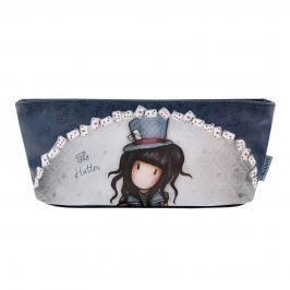 Santoro London - Pouzdro/Kosmetická taška - Gorjuss - The Hatter Černo modrá/ tmavě modrá