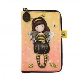 Santoro London - Skladací Nákupní Taška - Gorjuss - Bee-Loved (Just Bee-Cause) Černá, žlutá, krémová