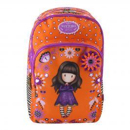 Santoro London - Batoh školní 3-komorový - Gorjuss Fiesta - Cobwebs fialová, oranžová