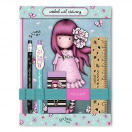 Santoro London - Sada Zápisníku a Psacích Potřeb - Gorjuss - Cherry Blossom