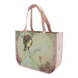 Santoro London - Nákupní taška - Mirabelle - All For Love Světle růžová, béžová