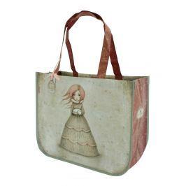 Santoro London - Nákupní taška - Mirabelle - Traveller's Rest Šedá, bledě růžová