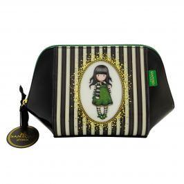 Santoro London - Pouzdro/Kosmetická taška  - Gorjuss Stripes - The Scarf Černá, bílá, zelená