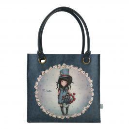 Santoro London - Velká Nákupní taška - Gorjuss - The Hatter Modrá, modrošedá