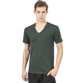 Tričko Melange V-Neck Pocket forestgreen/blk zelená S