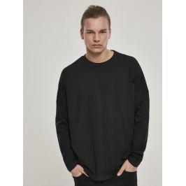 Tričko Oversized Cut On Sleeve Pocket LS černá L