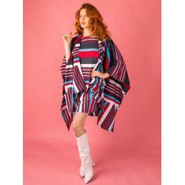 Poncho Stripes Here Stripes There barevné XXL