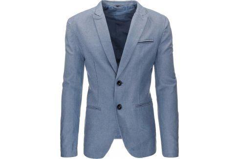 BASIC Pánské modré sako (mx0154) velikost: XL, odstíny barev: modrá Pánská saka