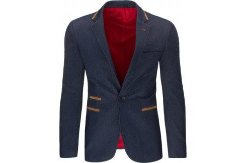 BASIC Elegantní pánské sako (mx0171) velikost: S, odstíny barev: modrá Pánská saka