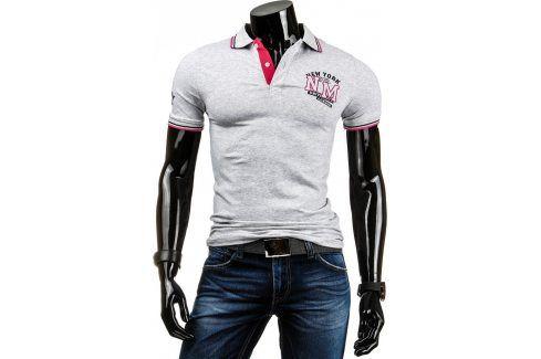 BASIC Pánské tričko polo (px0009) velikost: XL, odstíny barev: šedá Pánská trička