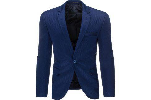BASIC Pánské modré sako (mx0204) velikost: 2XL, odstíny barev: modrá Pánská saka