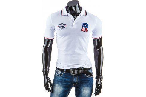 BASIC Pánské tričko polo (px0036) velikost: XL, odstíny barev: bílá Pánská trička