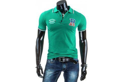 BASIC Pánské tričko polo px0040 BBG610 velikost: M, odstíny barev: zelená Pánská trička