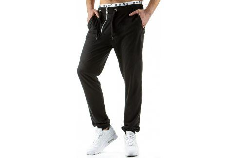 BASIC Pánské černé baggy tepláky (ux0529) velikost: S, odstíny barev: černá Pánské kalhoty