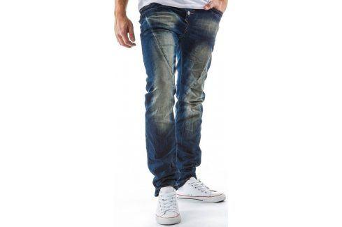 BASIC Pánské modré džíny (ux0125) velikost: 28, odstíny barev: modrá Pánské kalhoty