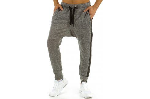 BASIC Pánské šedé baggy tepláky (ux0541) velikost: 2XL, odstíny barev: šedá Pánské kalhoty