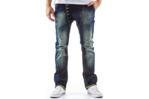 BASIC Pánské modré kalhoty (ux0126) Velikost: 28 Pánské kalhoty