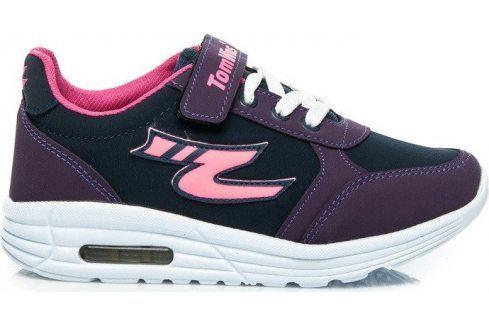 BASIC Fialové tenisky 05-8PU velikost: 31, odstíny barev: fialová Dětská obuv