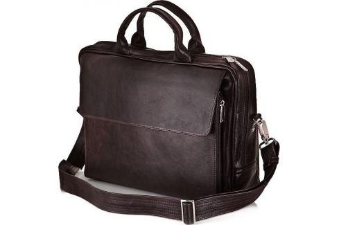 SOLIER KOŽENÁ HNĚDÁ TAŠKA NA NOTEBOOK (SL30 DARK BROWN) Velikost: univerzální Pánské tašky