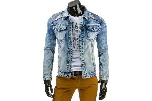 BASIC Džínová bunda (tx1158) velikost: S, odstíny barev: modrá Pánské bundy a kabáty