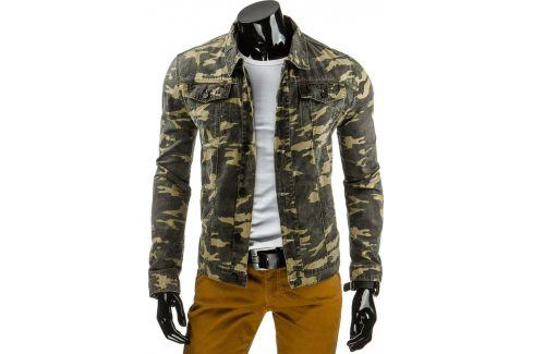BASIC Maskářová bunda (tx1160) velikost: S, odstíny barev: zelená Pánské bundy a kabáty